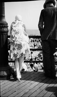 Walker Evans (American, 1903–1975). [Man and Woman on Coney Island Boardwalk, From Behind, Coney Island, New York], 1929. The Metropolitan Museum of Art, New York. Walker Evans Archive, 1994 (1994.251.168) © Walker Evans Archive, The Metropolitan Museum of Art