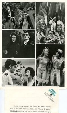 DONNY AND MARIE OSMOND ORIG 1976 ABC TV PHOTO