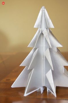 DIY Folded Paper (Kirigami) Christmas Trees
