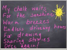 Merely Day By Day: Time to Chalk? (Original poem) friday 22814, poetri friday