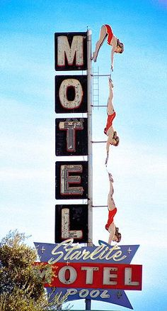 Starlight Motel neon sign in Mesa, Arizona.  #Route66 #VintageSigns #NeonSigns #MotherRoad #RoadsideAmericana #GhostSigns #Retro #VanishingAmerica #SmallTown #Abandoned #Rustic #Decay #RoadsideAttraction