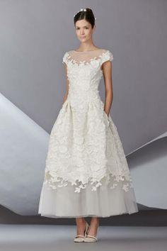 bridal collection, bridal tea, short wedding dresses, bridal looks, dress wedding, carolina herrera, the dress, bridal fashion, vintage style