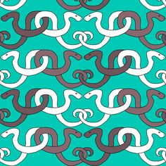 Ornamental Snakes fabric by pond_ripple on Spoonflower - custom fabric