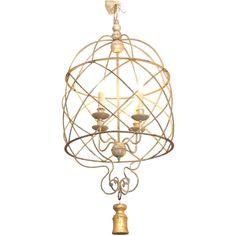 Italian birdcage chandelier with tassel