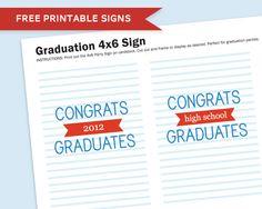 More Graduation Party Printables!