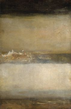 J. M. W. Turner *Three Seascapes* circa 1827.  I LOVE Turner. I've see a few of his pieces in museums and photographs just don't do justice to his work. His paintings feel alive.