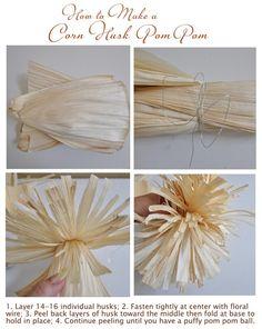 corn husk pom poms