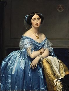 Princesse de Broglie, 1851-53. Jean-Auguste-Dominique Ingres (French, 1780-1867). Oil on canvas. Metropolitan Museum of Art, New York.