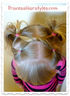 shoelace knot pigtails, little girls hairstyle tutorial @Amy Lyons Lyons Lyons Nail Murphy Bring me Brylee so I can do this to her hair