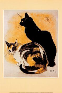 Steinlen - Deux chats