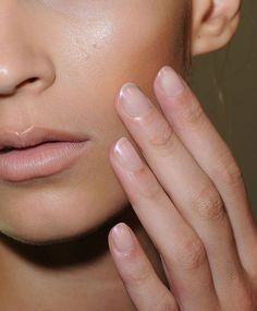 These Liquid Lavender nails looked beautiful with the underwater fantasy theme of the show.  Monique Lhuillier Spring 2013 Collection #nyfw