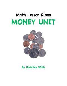 Math Lesson Plans - Unit on Money *FREE*