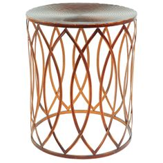 NURSERY MUST: This side table is a glam perch for your nursing necessities.