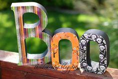 Scrapbook paper + Mod Podge + wooden letters