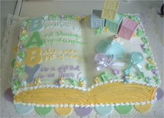 baby shower Book Cake
