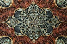 Painted rock inspiration - Astonishingly Dense Quilled Paper Rugs by Lisa Nilsson