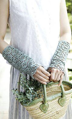 Ravelry: Tours Arm Covers free pattern by Pierrot (Gosyo Co., Ltd)