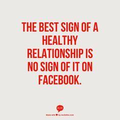 Relationships & Facebook. So true!