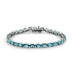 Liquidation Channel | Paraiba Apatite Bracelet in Platinum Overlay Sterling Silver (Nickel Free)