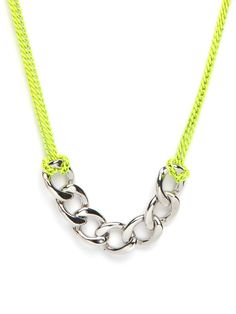DIY inspiration: neon chain neclace