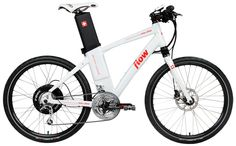 Flow e-bike. The battery swaps out as the seat pole.