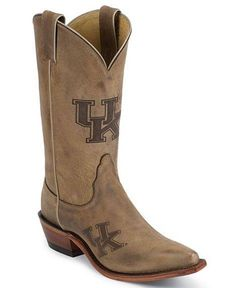 University of Kentucky Wildcats  - snip toe cowboy / cowgirl boots with college logo