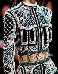 BALMAIN Embellished Jacket / The decorative elements of this garment remind me of the Byzantine Era