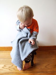 Make a Baby Blanket from a Sweater
