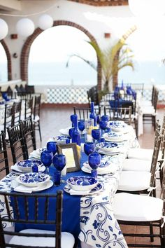 Cobalt Blue Table Setting