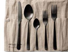 black flatware