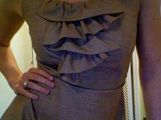free linen ruffle dress pattern