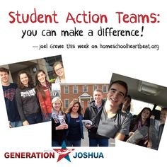 Have you ever wondered how one person can make a difference in their government? This week on Home School Heartbeat, Joel Grewe shares how Generation Joshua and its Student Action Teams are teaching kids how to be civically involved >>