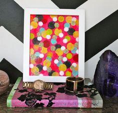 Kate Spade inspired sprinkle art