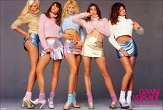 pastel, richard avedon, 90s fashion, stephanie seymour, claudia schiffer, old school, gianni versace, supermodel, ad campaigns