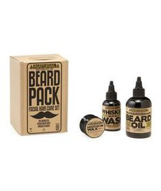 Beard Pack: Make sure your guy takes proper care of his beard and 'stache with this all-natural set that includes beard oil, whisker wash, and mustache wax. beards, gift, nut oil, natur oil, beard pack, glretail, mustach wax, natural oils, beard oil