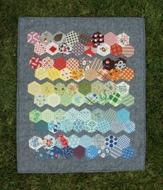 Fabric Mutt - Hexagon Mini Quilt