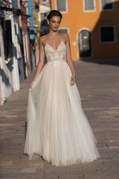 Spaghetti Strap Wedding Dress, Gali Karten 2018 Bridal Collection | ElegantWedding.ca