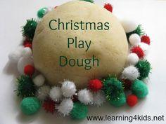 Christmas Play Dough Recipe and Activitiy Ideas