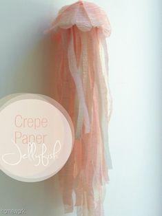 DIY crepe paper jellyfish