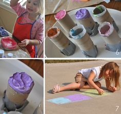 Making your own sidewalk chalk is easy and fun for your little ones!