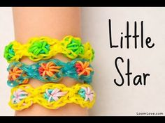 ▶ How to Make the Rainbow Loom Little Star - YouTube