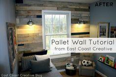 DIY Pallet Wall Tutorial
