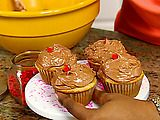 Picture of Buttermilk Cupcakes with Chocolate Icing Recipe
