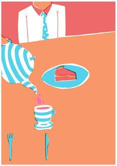 tea time, tea cake