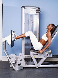 to target the inner thighs instead of the quads, spread feet farther apart than hip width, with toes pointed outward!