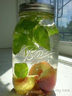 Peach-Basil Infused Vodka~After making other infused vodkas I will be doubling the amount of peaches and basil