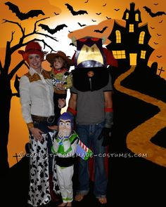 Coolest Toy Story Homemade Family Costume... Coolest Homemade Costume Contest