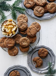Chewy Ginger Cookies + recipe #winterrecipe #ginger
