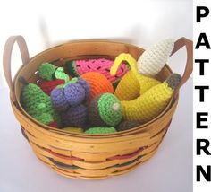Crochet Food Pattern for Fruit  finished items made by CraftyAnna, $6.00