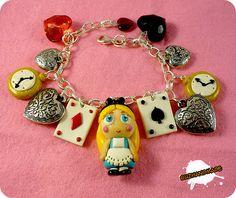 Alice in Wonderland Fimo bracelet!